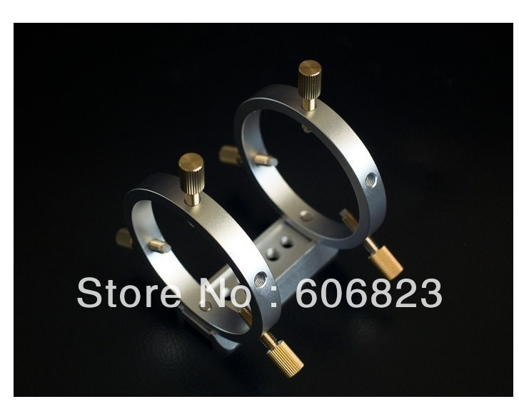 New Telescope Finder Guider Tube Rings with dovetail mounting plate Dia.60mm telescope 98 100mm cnc tube rings pair