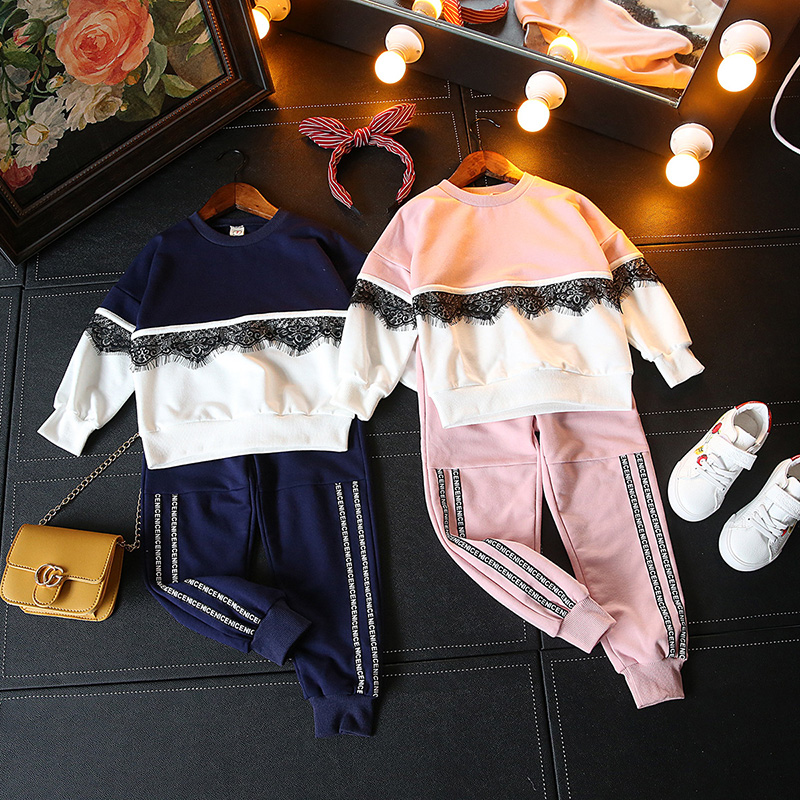 Kids Clothes Sets Autumn Girl T-shirt Tops +pants Suit Clothing Set Clothes Children Sport Suits Baby Girls Ccostume baby boy clothes 2017 brand summer kids clothes sets t shirt pants suit clothing set star printed clothes newborn sport suits