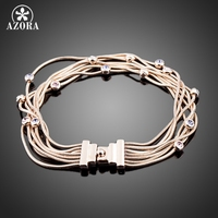 Seven Coil 18K Rose Gold Plated SWA ELEMENTS Austrian Crystal Jewelry Bracelets FREE SHIPPING Azora TS0026