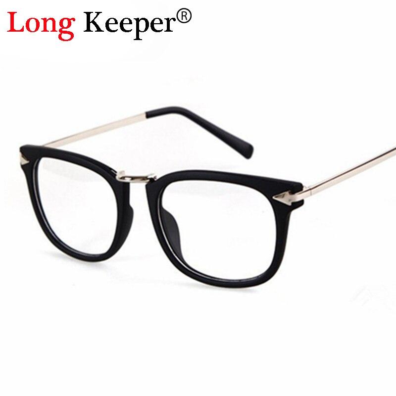 8d65efb5d Longo Goleiro Quente Designer de Moda Da Marca Óculos de Armação de Leitura  marco computador Eyeware óculos Óculos de grau óculos de lente clara do  vintage
