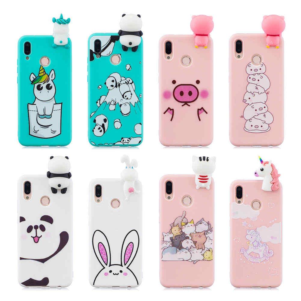 3D Silicone case For Huawei P20 Pro P20 Case Soft Cover Unicorn Pig Panda cat Cute For Huawei P20 P10 Lite capa Mate10 Lite