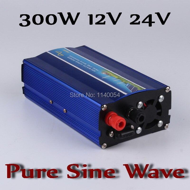 300 W hors réseau onduleur 12 V 24 V DC à AC 100/110/120 V ou 220/230/240 V avec 600 W surtension, 300 W pur onduleur à onde sinusoïdale