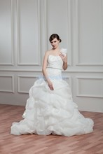 free shipping 2013 design bride dress ball gown bridal custom size/color one shoulder plus size small train wedding