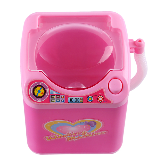 Educational Toy Mini Electric Washing Machine Children Pretend & Play Baby Kids Home Appliances Toy - Pink 3
