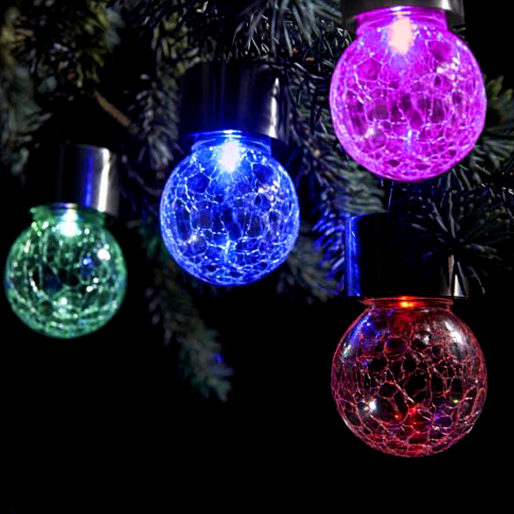 Led pendant solar lantern lamp christmas tree crackle glass jar rgb pendant rgb led holiday lamp solar garden light outdoor patio christmas tree led solar light bulb mozeypictures Images