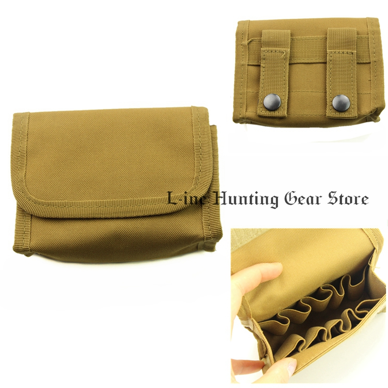 Hunting Shooting Bullet Pouch Genuine Nylon Ammo Wallet 10 Round Cartridge Holder Bag