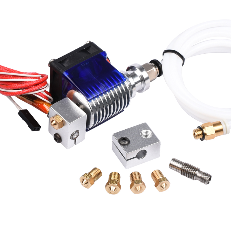 3D Printer J-head Hotend with Single Cooling Fan for 1.75mm/3.0mm 3D v6 bowden Filament Wade Extruder 0.2mm/0.3mm/0.4mm Nozzle 3d printer accessory reprap j head mkiv mkv hotend nozzle wade bowden extruder for choice top quality free shipping