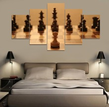 chess 5 Piece Modern HD Print Wall Art Canvas Art For Living Room Decor Painting Wall Art Painting Home Decor Picture Artwork urban hd print wall art canvas painting modern home canvas wall art for living room painting modern decor home decor picture