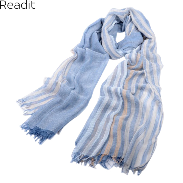 2016 Popular New Cotton And linen Scarf Thin Silk Scarves In The Spring And Autumn Pure Color Stripe Burrs Linen Shawl SC1083