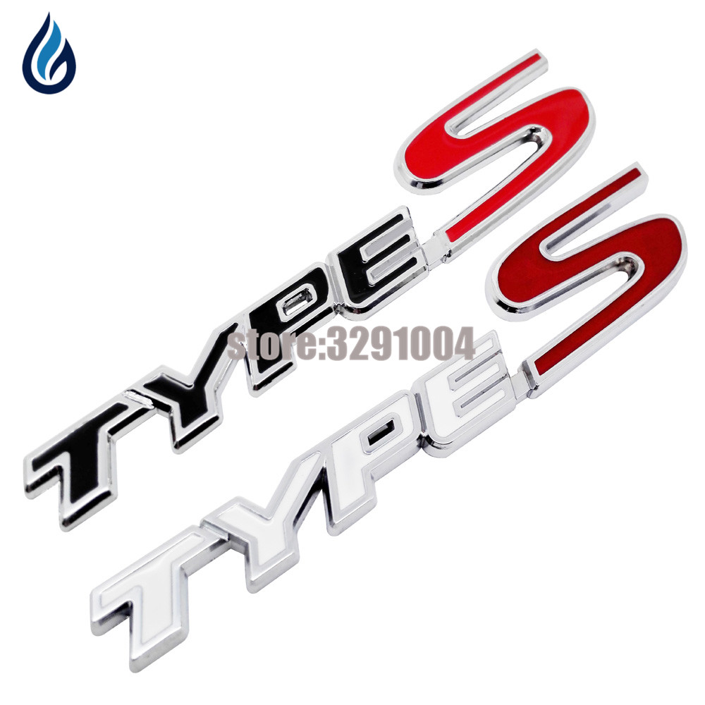 3D Auto Decoration Stickers Car Emblem Badge Trunk Tear Decal Type-S Logo For <font><b>Honda</b></font> Civic Fit Odyssey Insight Spirior CRZ <font><b>Accord</b></font> image