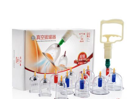 ФОТО Cupping is 12 household blast protection suction type vacuum cupping set containing oil scrapping plate scrapping-liu52