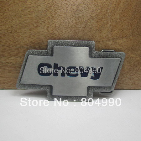 Bucklehome Chevy Belt Buckle With Pewter Finish Fp 02679 Suitable For 4cm Wideth Continous Stock