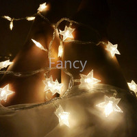 3M 30pcs LED Party Fairy Lights Battery Operated Five Pointed Star LED String Lights For Wedding