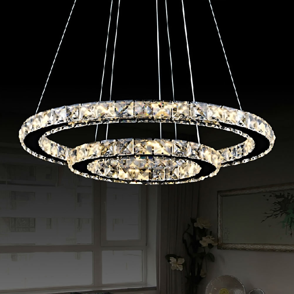 Us 35 83 30 Off Modern Luminaire Suspendu Led Crystal Chandelier Lights For Diving Room Cristal Re Pendente Lighting Pendant Hanging Fixture In