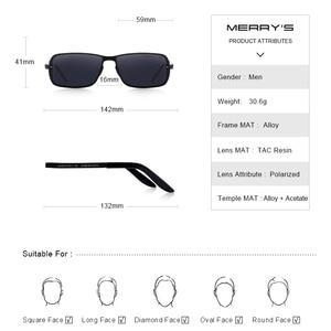 Image 4 - MERRYS DESIGN Classic Men HD Polarized Sunglasses For Men Driving CR39 Lenses UV400 Protection S8722