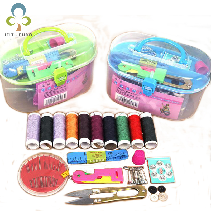 Scissors /& more Black Thread 36 pc set Zipping Travel Sewing Kit Needles