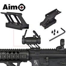 AIM O F1 สำหรับ Airsoft T1 / T 1 / T2 / T 2 /TR02 สีแดงพอดี MIL Spec picatinny Rail ขอบเขต Mounts AO1780 อุปกรณ์ล่าสัตว์