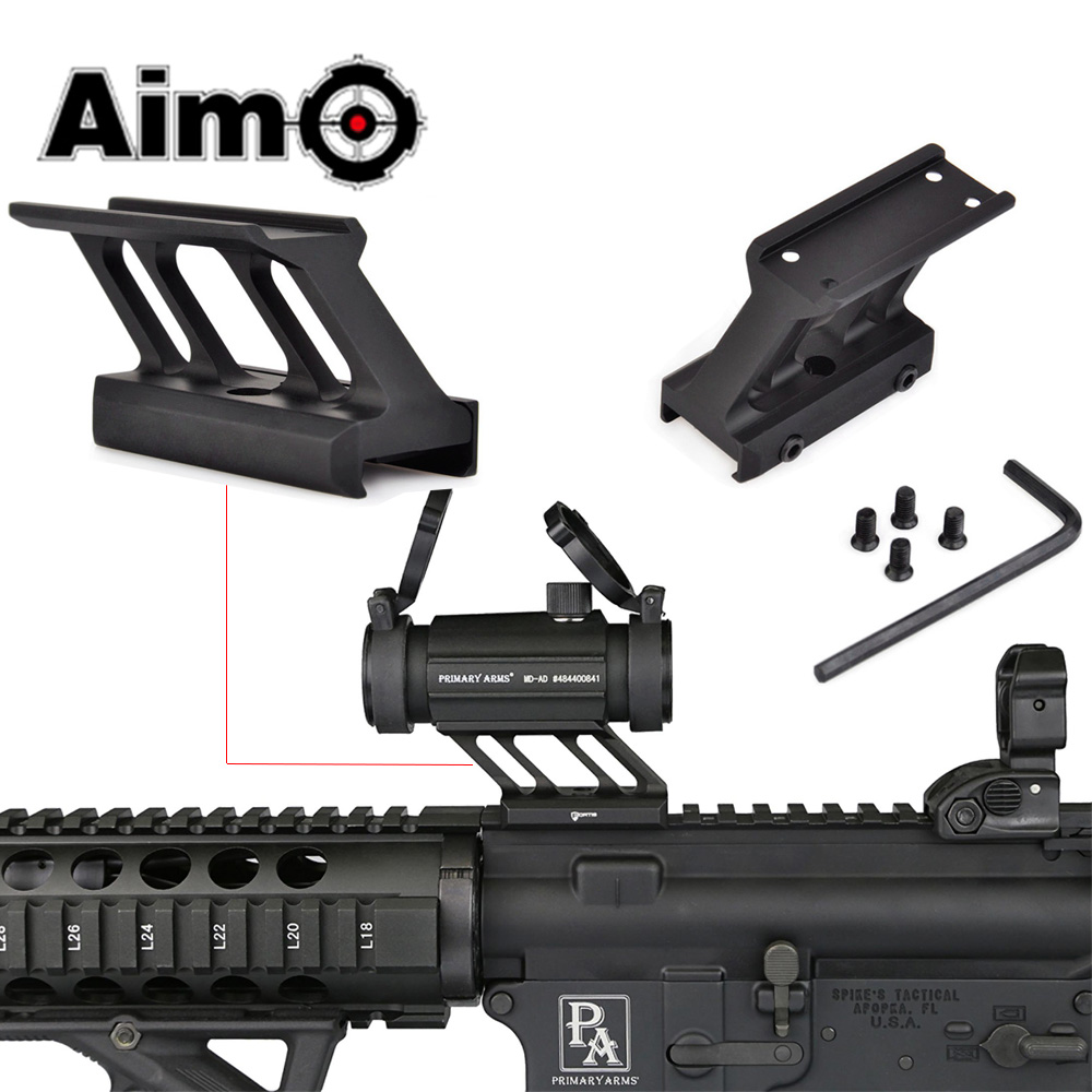 AIM-O F1 Mount For Airsoft <font><b>T1</b></font> / T-1 / T2 / T-2 /TR02 <font><b>Red</b></font> <font><b>Dot</b></font> Fit Mil-spec Picatinny Rail <font><b>Scope</b></font> Mounts AO1780 Hunting Accessories image