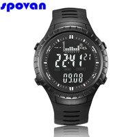SPOVAN Digital Watch Men's Waterproof Sport Clock Men Barometer Altimeter Thermometer Stopwatch Wrist Watch Relogio Masculino