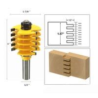 Binoax 1 2 Shank Adjustable Box Finger Joint Router Bit Woodwork Cutter Tools