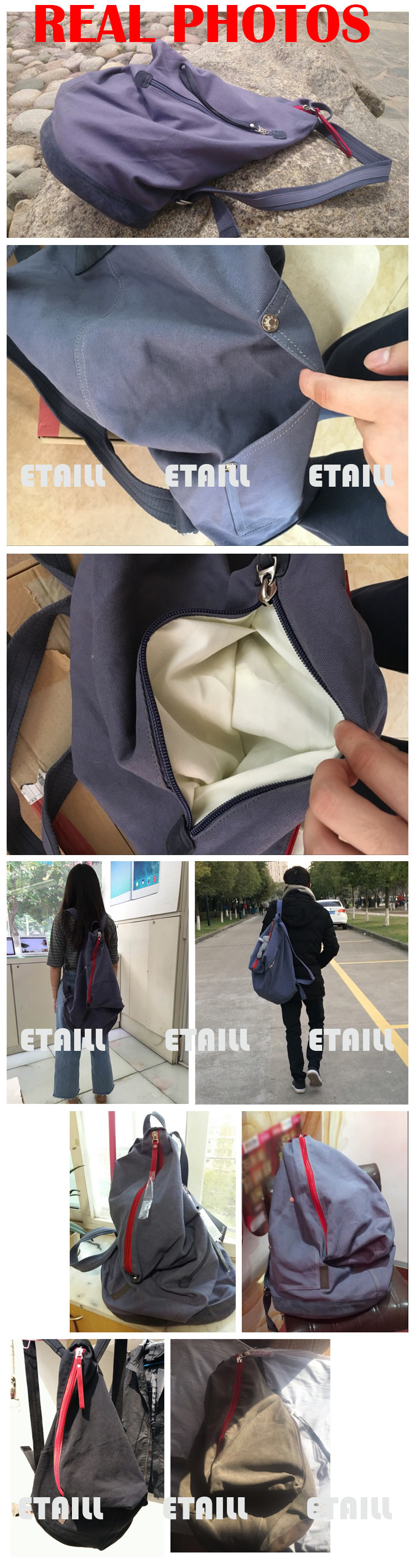 backpack canvas casual