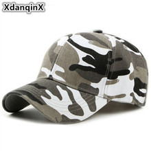 XdanqinX Spring Summer Camouflage Baseball Caps For Men Women Climbing Duck Tongue Cap Bone Adjustable Size Snapback Hip Hop