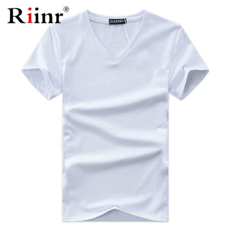 Мужская футболка с коротким рукавом, Повседневная облегающая футболка с треугольным вырезом и коротким рукавом, летняя футболка большого р...