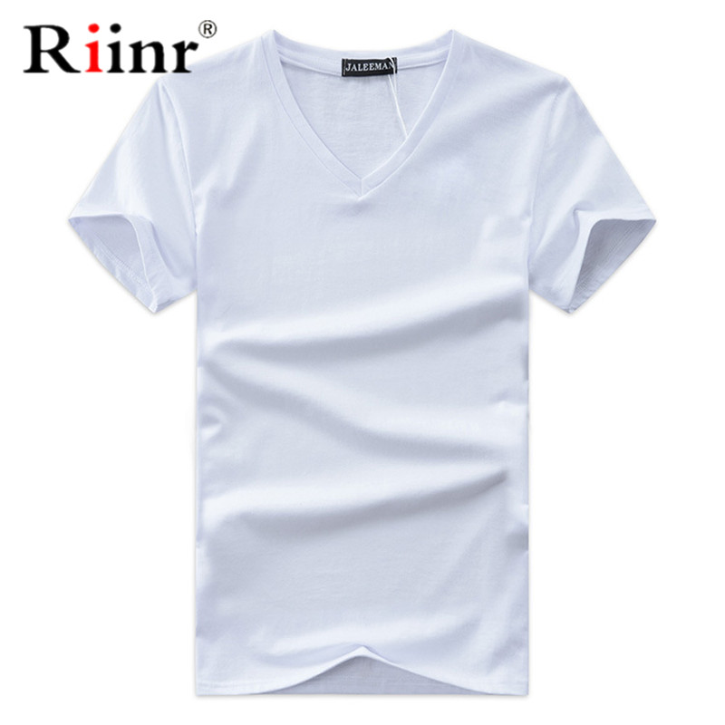 Short Sleeve T Shirt Men's Tops Tees V Neck Short Sleeve Slim Fit T-shirt Men Casual Summer Tshirt Camisetas Plus Size S-5XL