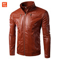 2016 New Fashion Slim Leather Jacket Autumn Winter Men Good Quality Comfortable Motorcycle Jacket