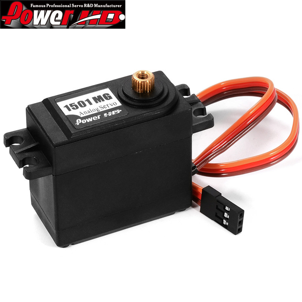 4pcs / lot 100% Izvorni High-Torque RC Auto Servo Power HD 1501MG - Igračke s daljinskim upravljačem - Foto 2