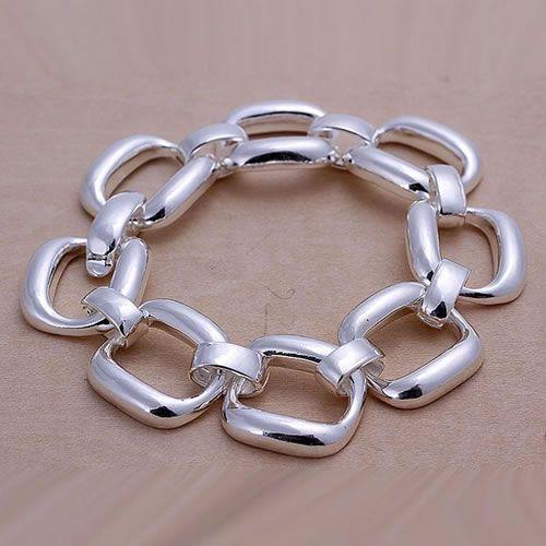 a878305734fd ⑦H124 925 pulsera plateada plata de la joyería 925