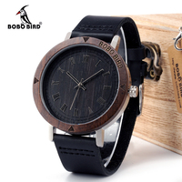 BOBOBIRD K05 Mens Watch Rome Digital Dial Face Genuine Leather Band Wristwatch With Japan Quartz 2035