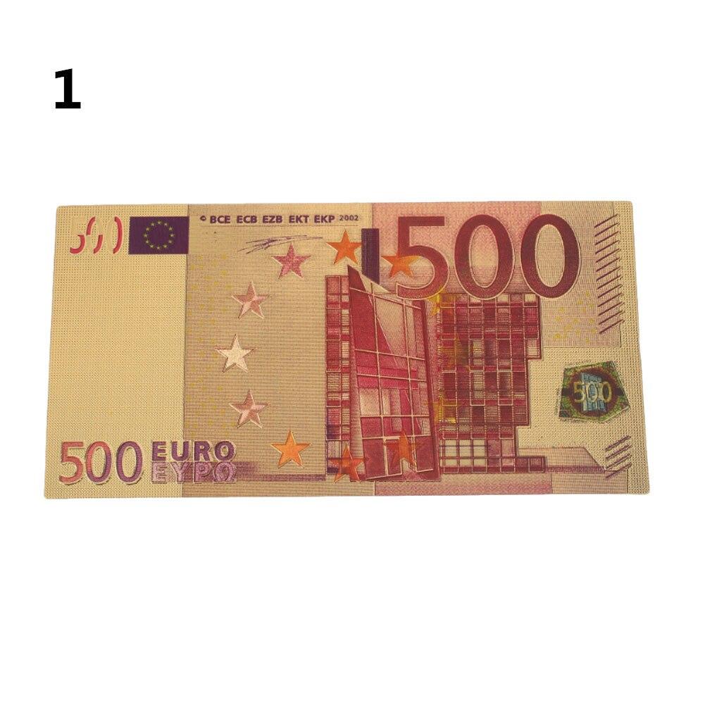 Памятные банкноты высокого качества фунты 24 к позолоченные евро поддельные деньги 500 евро золото античное покрытие
