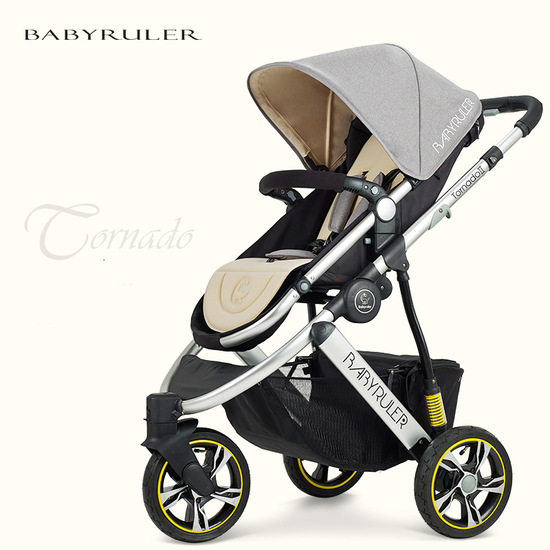 Babyruler baby stroller baby car portable two-way tricycle child cart shock absorbers baby stroller ultra light portable folding cart shock absorbers car umbrella bb baby child small baby car