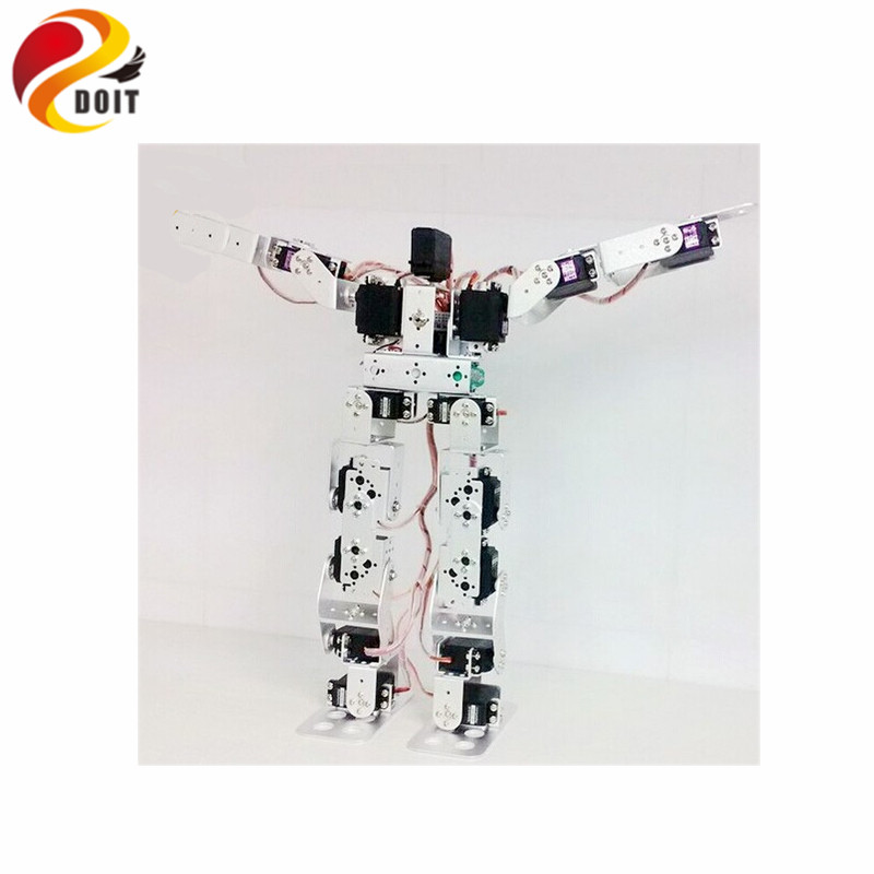 Official DOIT 17dof Humanoid Robot Arm Mechanical Educational Robotic Full Set Robot official doit 6 dof robot arm vehicle mounted robot arm for smart sar robot servos bracket mechanical manipulator aluminum