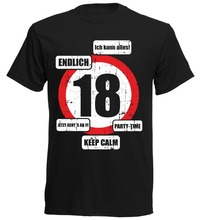 T-Shirt - Endlich 18 Jahre Geburtagsgeschenk new Unisex T Shirt Custom Printed Personalized T-Shirts Design Website  Free