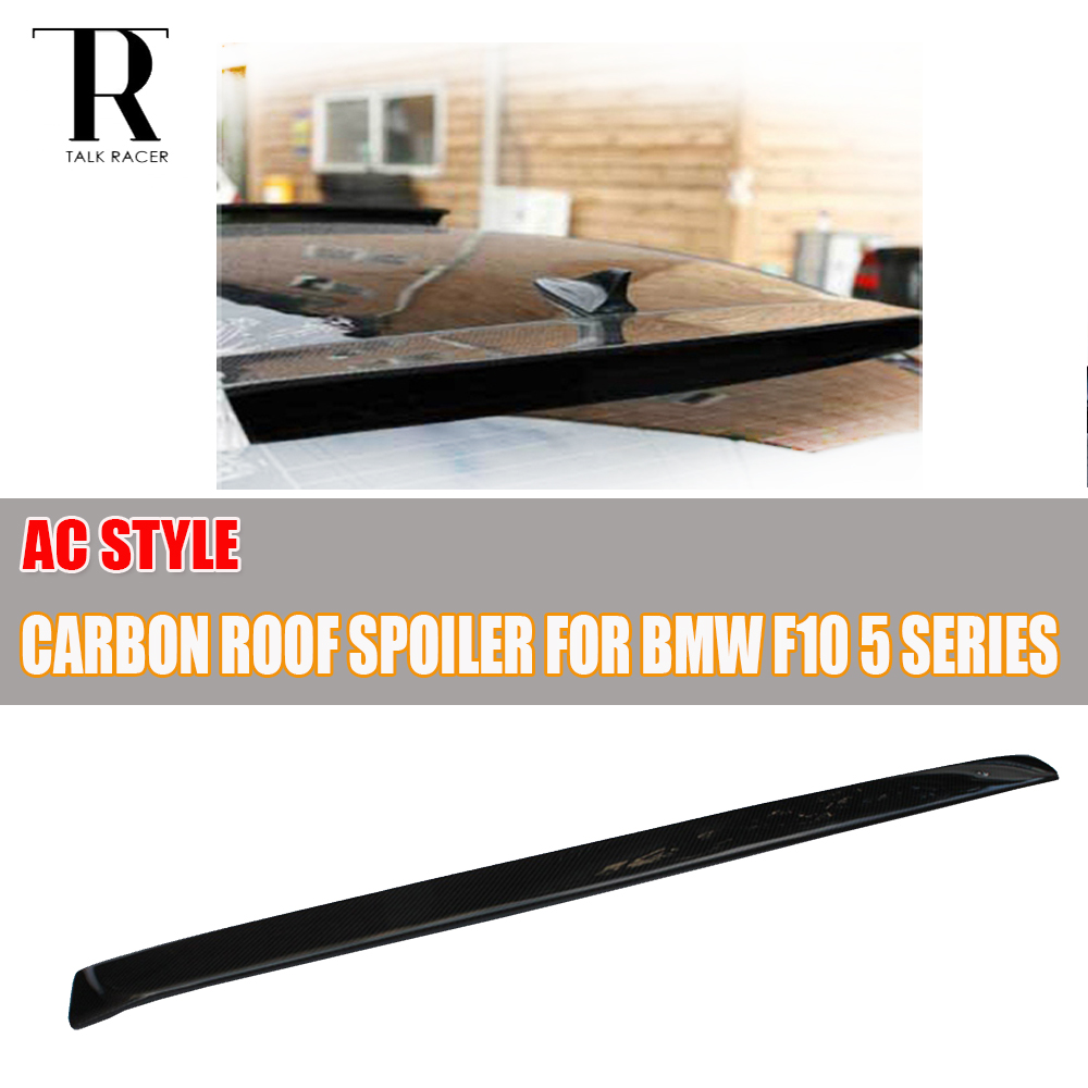 F10 AC Style Carbon Fiber Rear Roof Spoiler for BMW F10 520i 528i 530i 535i 520d 525d 530d 535d Sedan 2010 - 2016