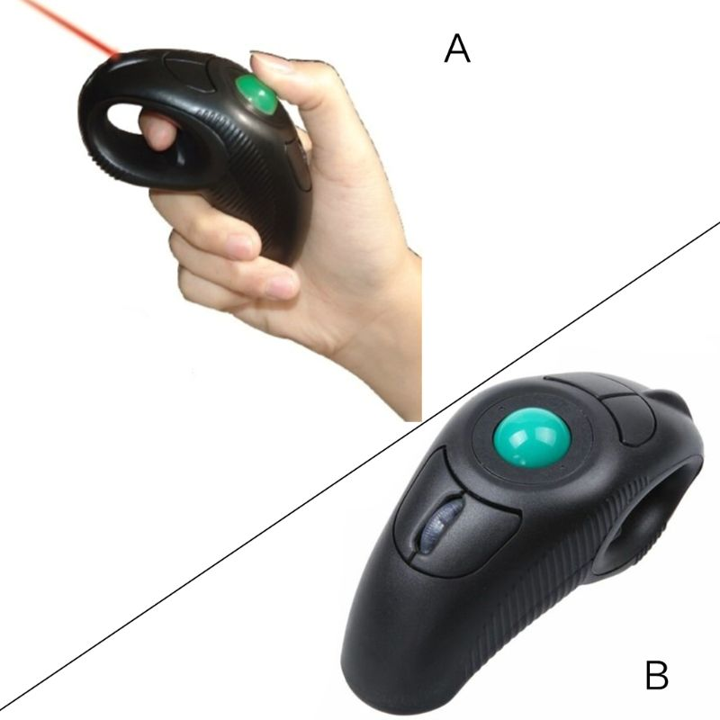 2.4G souris de Trackball sans fil Mini souris de poche USB Air contrôlée par le pouce souris pour PC ordinateur portable 10 M plage de réception