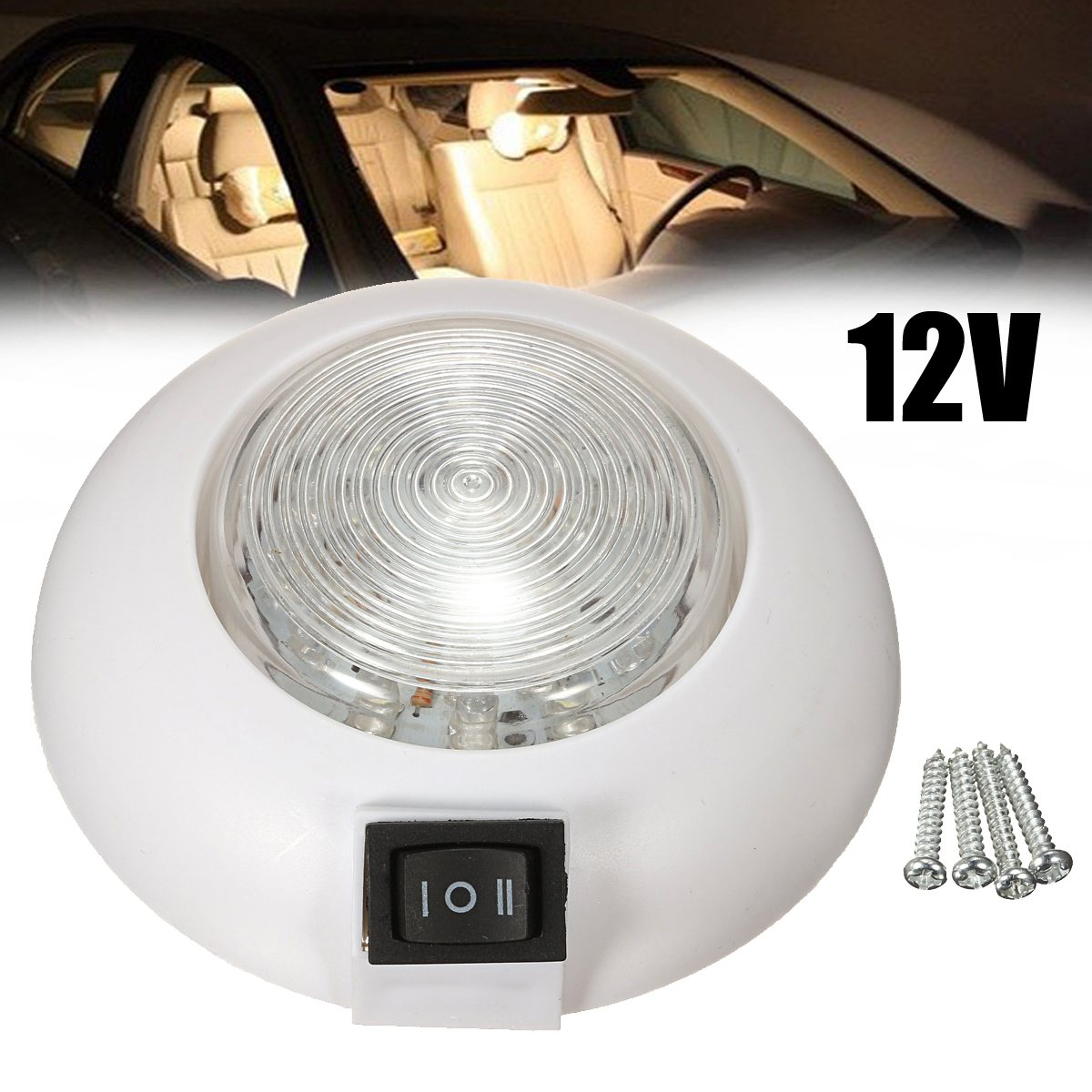 1pcs car led 12v dual whitered rv car boat interior lamp dome light 1pcs car led 12v dual whitered rv car boat interior lamp dome light reading light in signal lamp from automobiles motorcycles on aliexpress alibaba arubaitofo Gallery