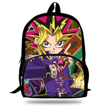 New 16inch Cool Cartoon Game Yu-Gi-Oh Backpack For Kids School Bags Boys Trave Bag For Girs Gift(China)