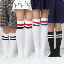 3 Patterns Girls Stockings Kids Tights  Pure Cotton Socks Soft Comfortable Striped Thin Knee High