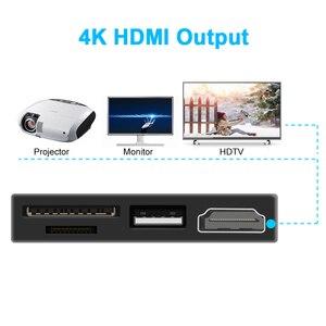 Image 2 - Rocketek usb tipo C 2,0 lector de tarjetas de memoria o HUB 4K HDMI adaptador para SD, TF micro SD Microfoft Surface go Accesorios de ordenador