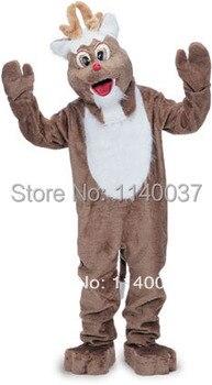Disfraz de Mascota de Reno para Celebración de Navidad fiesta de Carnaval publicidad de la mejor calidad