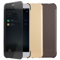 Luxury Smart Full View Window Flip PU Leather Case For Xiaomi Mi6 Mi 6 M6 Xiaomi6