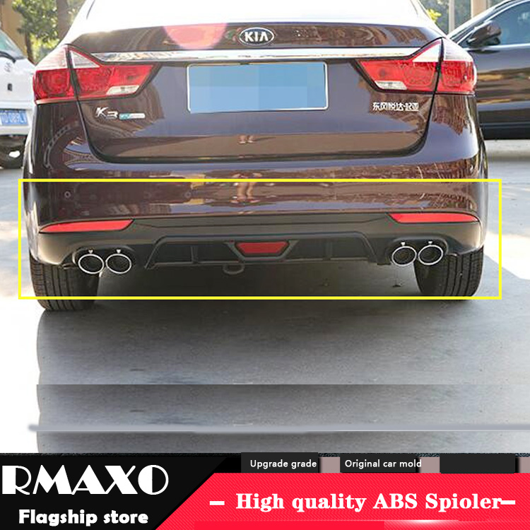 For Kia Forte Body kit spoiler 2016-2018 For Kia Forte K3 ABS Rear lip rear spoiler front Bumper Diffuser Bumpers Protector