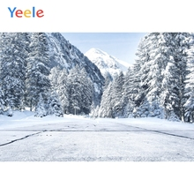 Yeele Winter Snow Mount Forest Sunshine Room Decor Photography Backdrops Personalized Photographic Backgrounds For Photo Studio