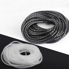 Dia 6-20mm PE Plastic White/Black Winding Pipe Bundle Line Hose Wire Protection Finishing Collection Line Protector Cable Sleeve 8mm hose protection wire case hose pipe computer principle line cable finishing line with fixed bundle of wire bobbin winder hub