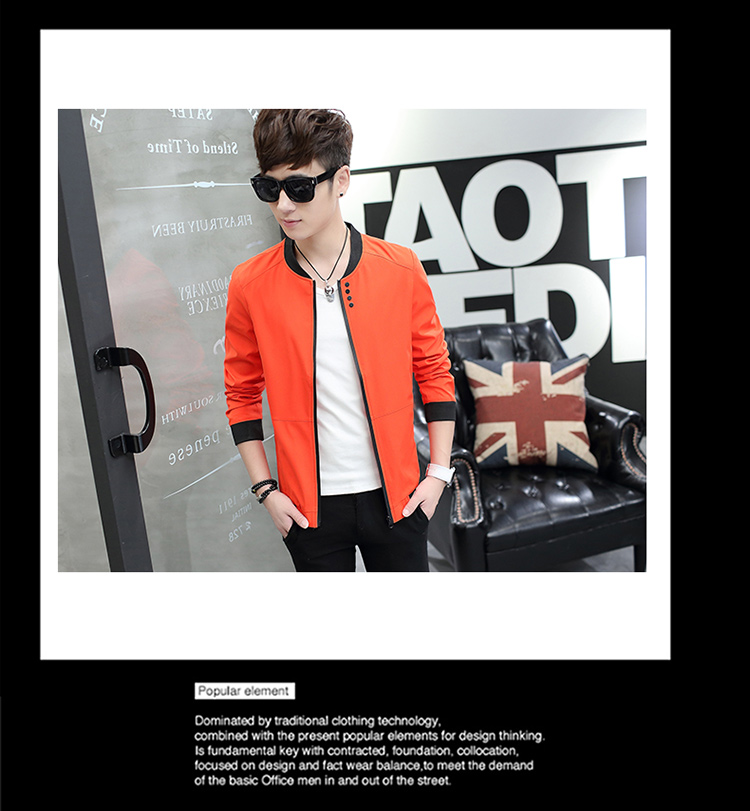 HTB1nWG0uhuTBuNkHFNRq6A9qpXaj Fall 2019 pure color collar jacket type teenagers cultivate one's morality Casual jacket