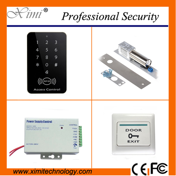 Good quality proximity card access control 1000 card capacity single door access control with magnetic lock without software weigand reader door access control without software 125khz rfid card metal access control reader with 180 280kg magnetic lock
