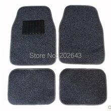 FM001 автомобильные коврики ковры с ПВХ водонепроницаемый Противоскользящий коврик черный/серый 66*45 см коврик педали липкий коврик для силикагеля